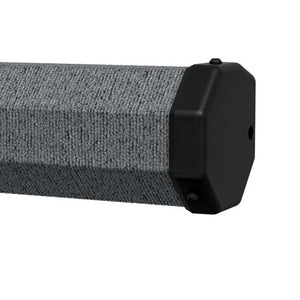 Gray Carpeted Casing