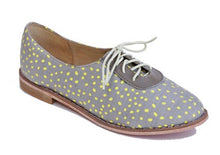 Load image into Gallery viewer, XOLANI OXFORD IN GREY & LEMON