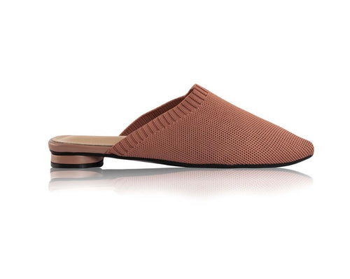 KNIT MULES - Terracotta