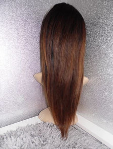 Courtney Ombre 360 HD lace frontal wig