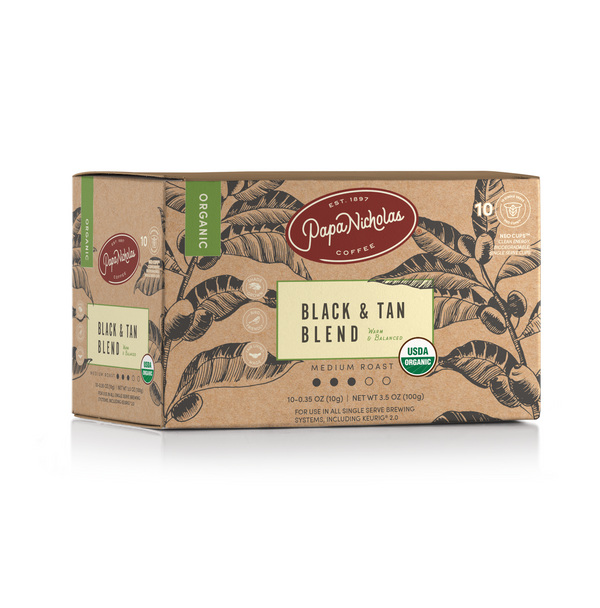 Black & Tan USDA Organic Single Serve Cups