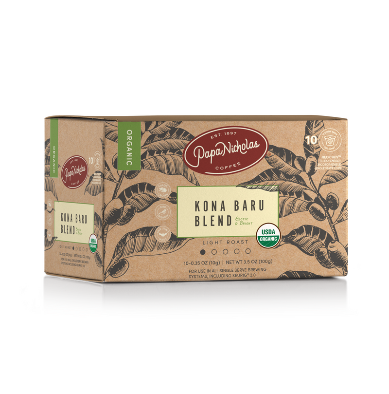 Kona Baru USDA Organic Single Serve Cups