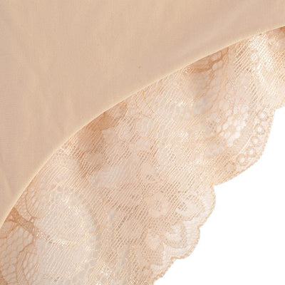 Sexy Low Waist Lace Spliced See-Through Briefs for Women
