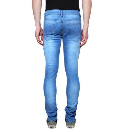 Blue Faded Stretchable Denim Regular Fit Jeans