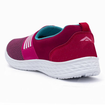 Pink Fabric Casual Shoes for women