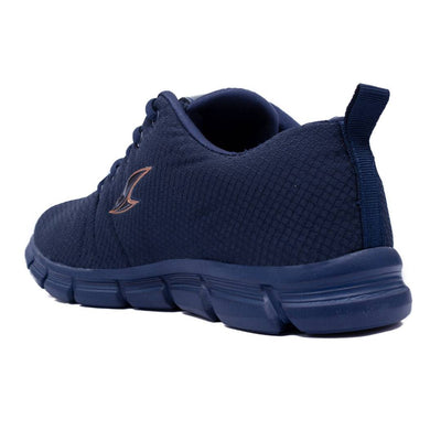Men's Blue Solid Mesh Sports Shoes