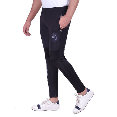 Solid Men's Black Track Pants