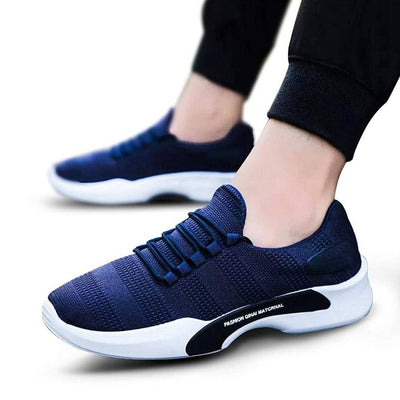 Men Blue Canvas Casual Sports Shoes