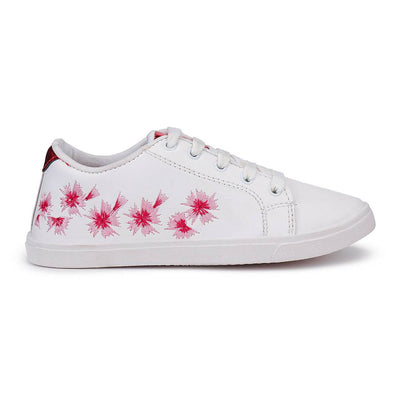 Stylish Sparkle White Women Casual Sneakers