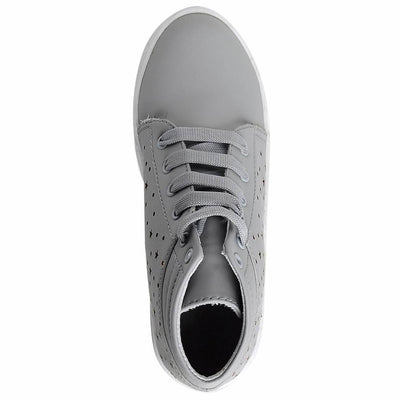 Grey Comfortable & Fashionable Mid Ankle Casual Sneakers Shoes for Women and Girls