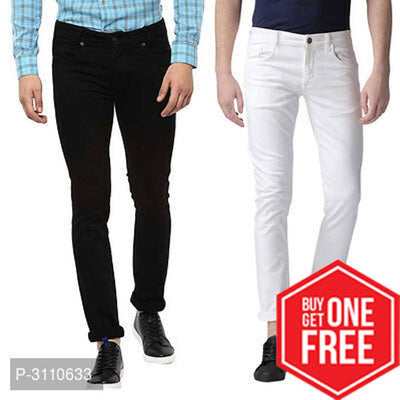 Buy One Get One Free Men's Denim Slim Fit Jeans