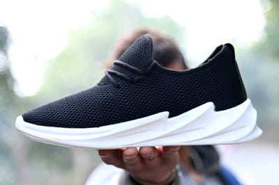 Ultra Lite Genuine Quality Men's Black White Breathable Comfy Sports Sneaker