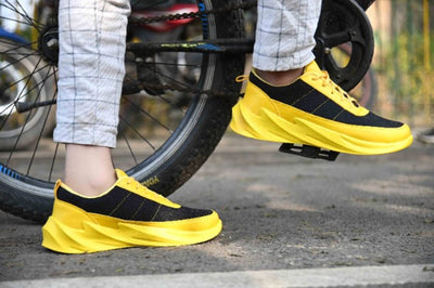 Ultra Lite Men's Black Yellow Breathable Comfy Sports Sneaker