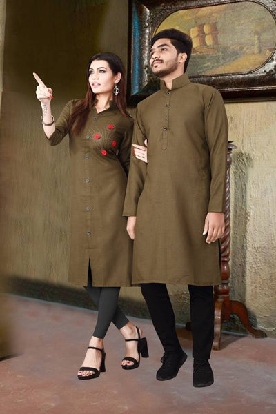 Straight Kurta  Couple Combo ( Buy 1 Get 1 )