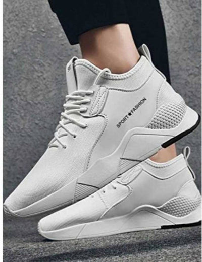 Ultra Lite White Breathable Comfy Sports Sneaker For Men
