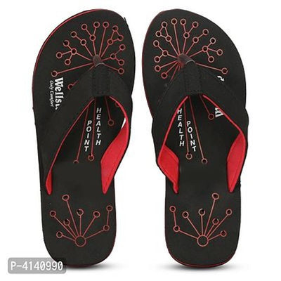 Women Black Perforations EVA Room Slippers