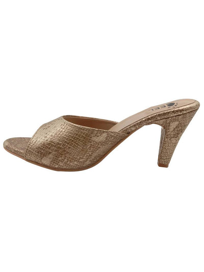 Stylish Synthetic Golden Pencil Heel Sandals For Women
