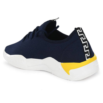 Men's Stylish and Trendy Blue Printed Canvas Casual Sports Shoes