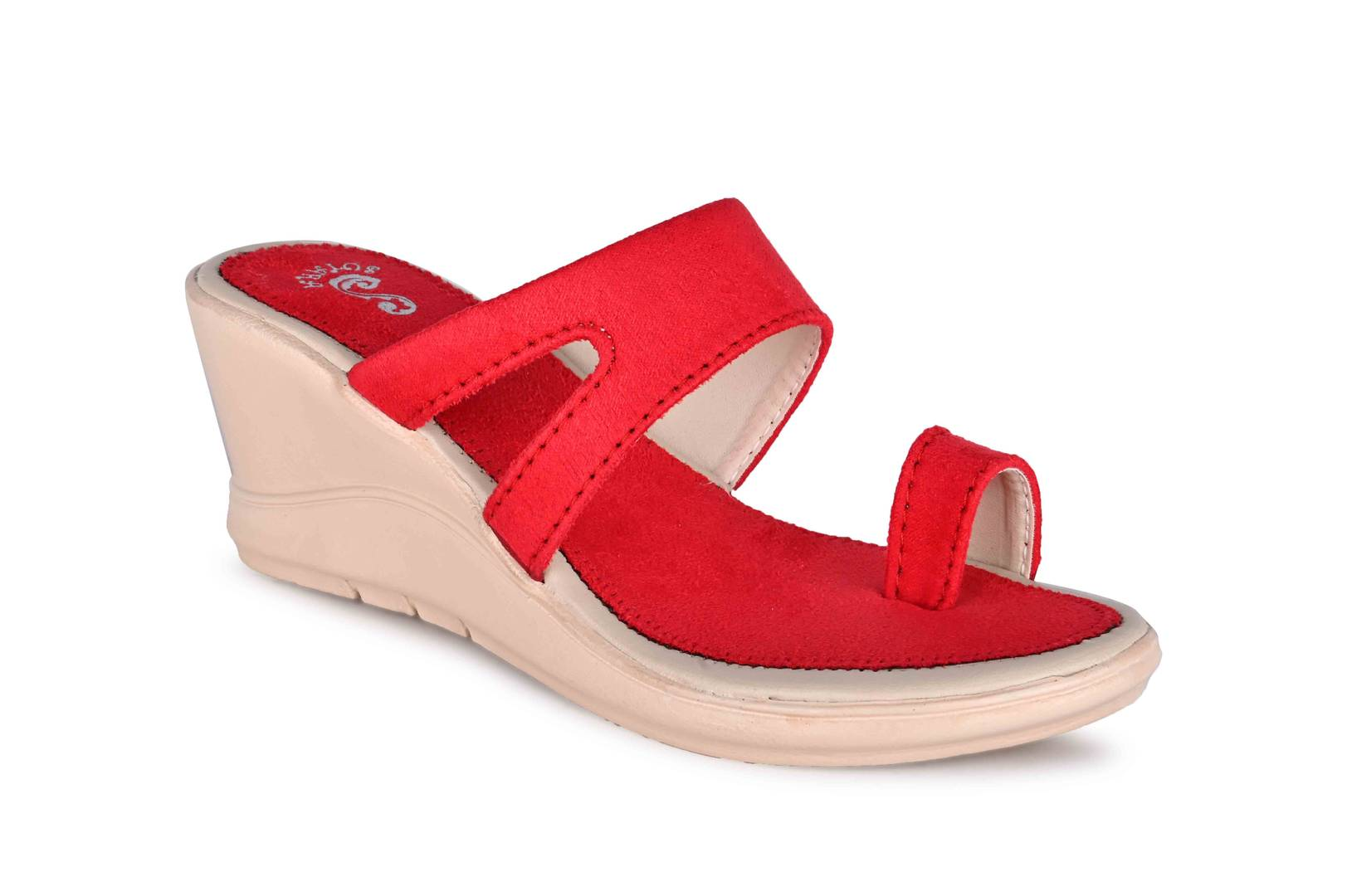 Women's Trendy Red Solid Synthetic Wedges