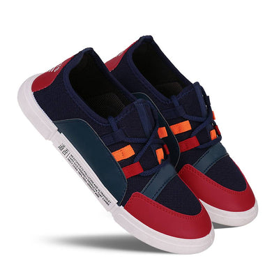 Men's Stylish and Trendy Multicoloured Self Design Canvas Casual Sports Shoes