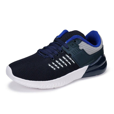 Men's Stylish and Trendy Navy Blue Self Design Canvas Casual Sports Shoes