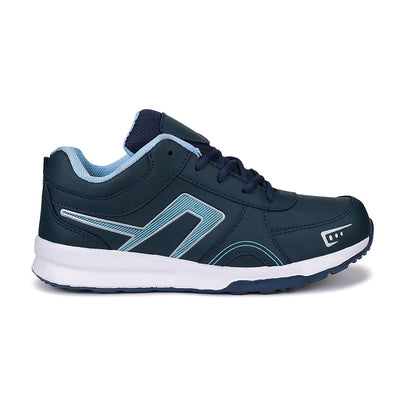Men's Stylish and Trendy Blue Self Design Canvas Casual Sports Shoes