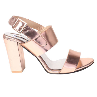Synthetic pink rose stylish Fancy Heels for women