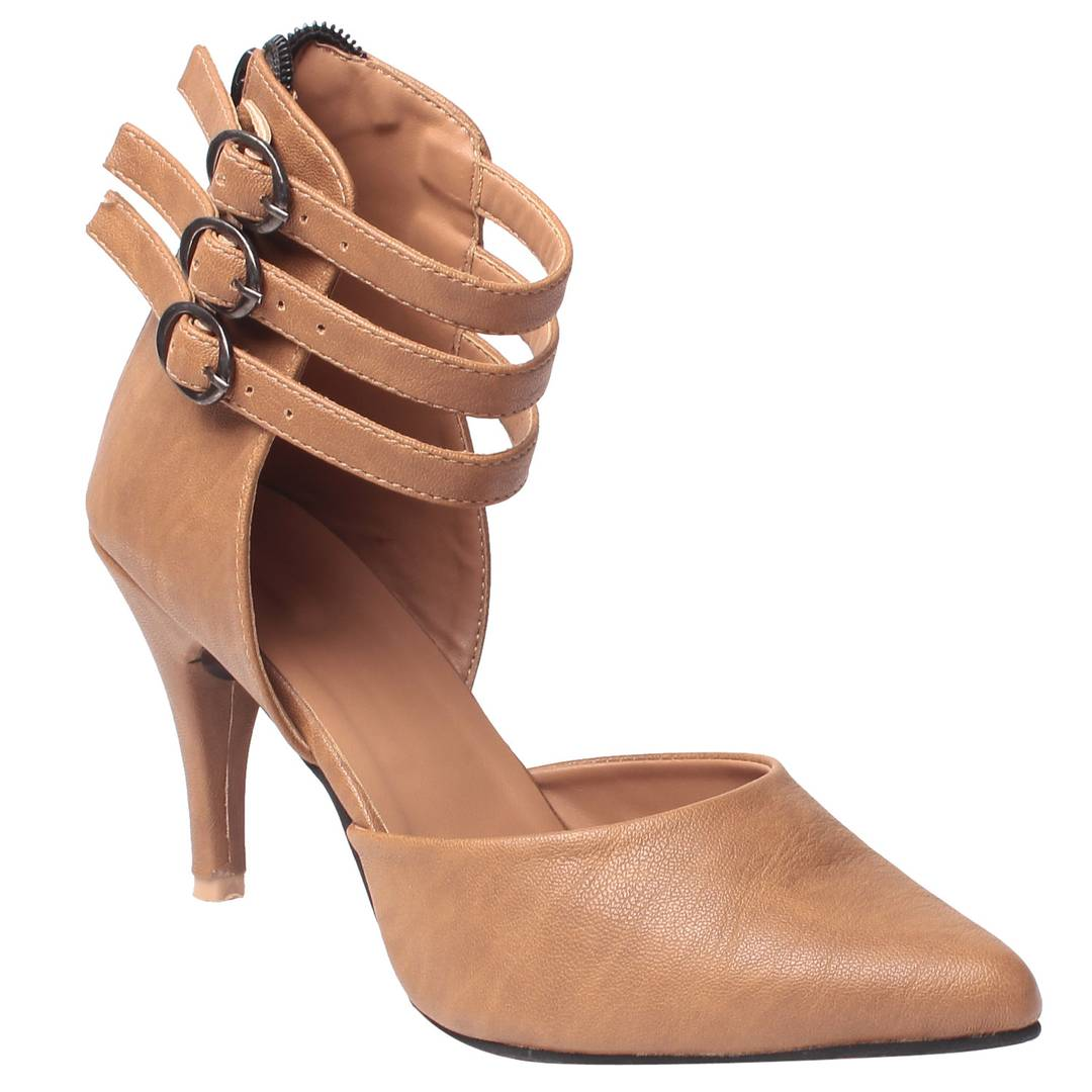 Synthetic Beige stylish Fancy Heels for women