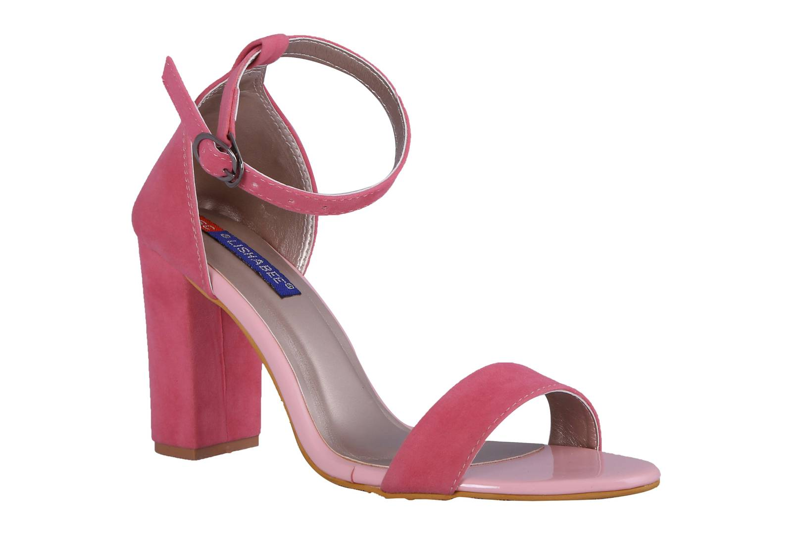 Women Pink Synthetic Suede heels