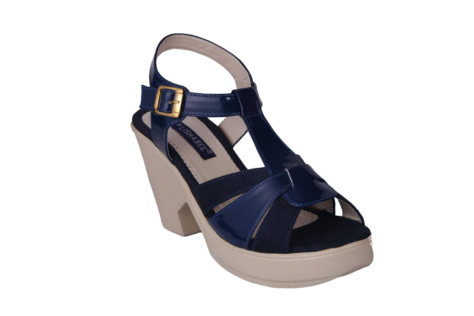 Women Synthetic Blue Wedges