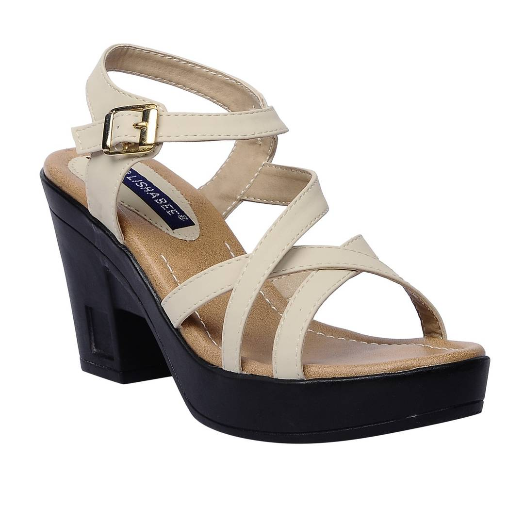 Women Synthetic Cream wedges