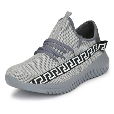 Men's Stylish and Trendy Grey Printed Mesh Casual Sports Shoes
