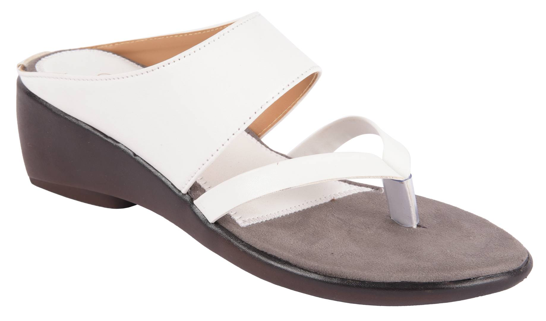 Women's Stylish and Trendy White Solid Synthetic Fancy Sandals