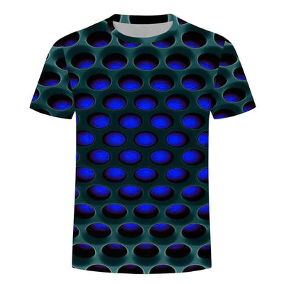 Burning Honeycomb Briquette Graphic Tee Men