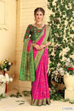 Authentic Art Silk Woven Ethnic Print Patola Sarees