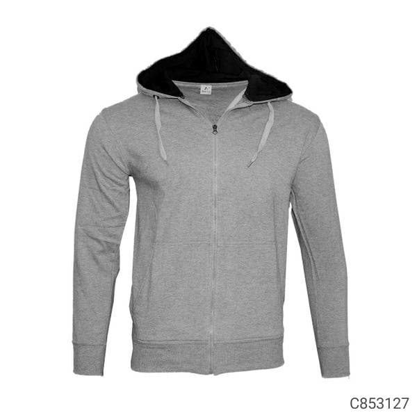 Fleece Poly Cotton Solid Hoodie Jackets