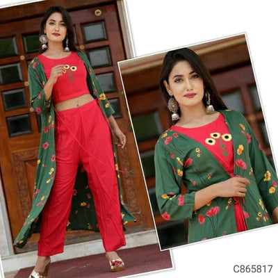 Rayon Embroidered Pant Set