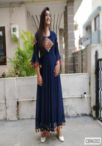 Georgette Floor Length Kurtis