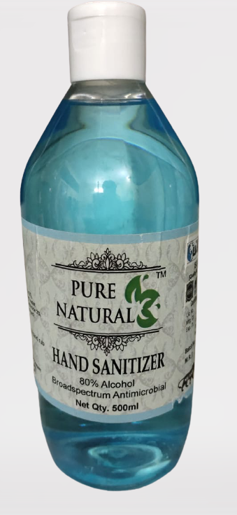 Pure Naturals Santizer - 500 ml (Pack of 2)