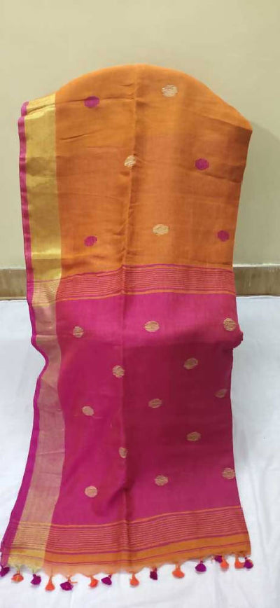 Embroidered Jamdani Handloom Cotton Silk Blend Saree.