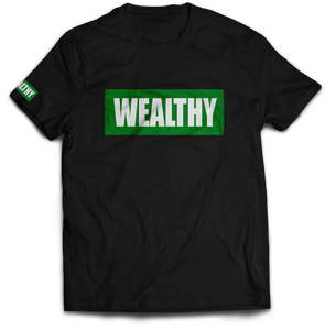 Wealthy Tee (Black/Green/White)