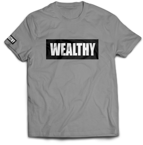 Wealthy Tee (Grey/Black/White)