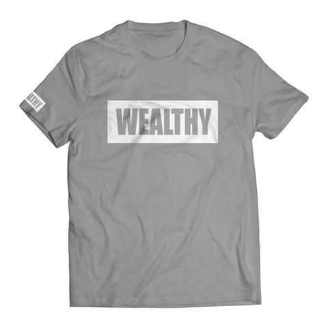 Wealthy Tee (Grey/White)