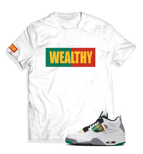 Wealthy Tee (White/Green/Red/Yellow)