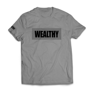 Wealthy Tee (Grey/Grey/Black)