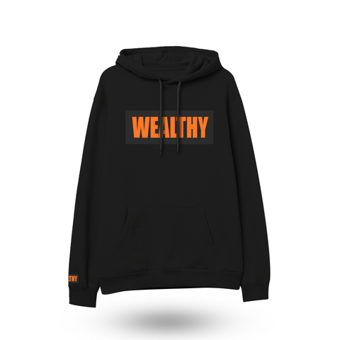 Wealthy Hoodie (Black/Black/Orange)