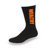 Wealthy Socks (Black/Orange)