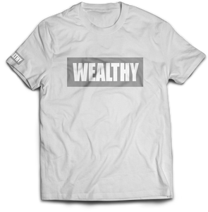 Wealthy Tee (White/Grey)