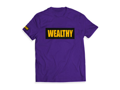 Wealthy Tee (Purple/Black/Yellow)