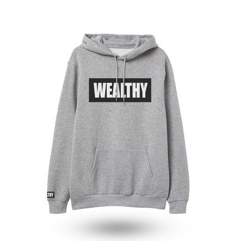 Wealthy Hoodie (Grey/Black/White)